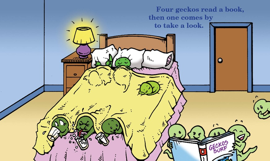 Geckos go to bed spread
